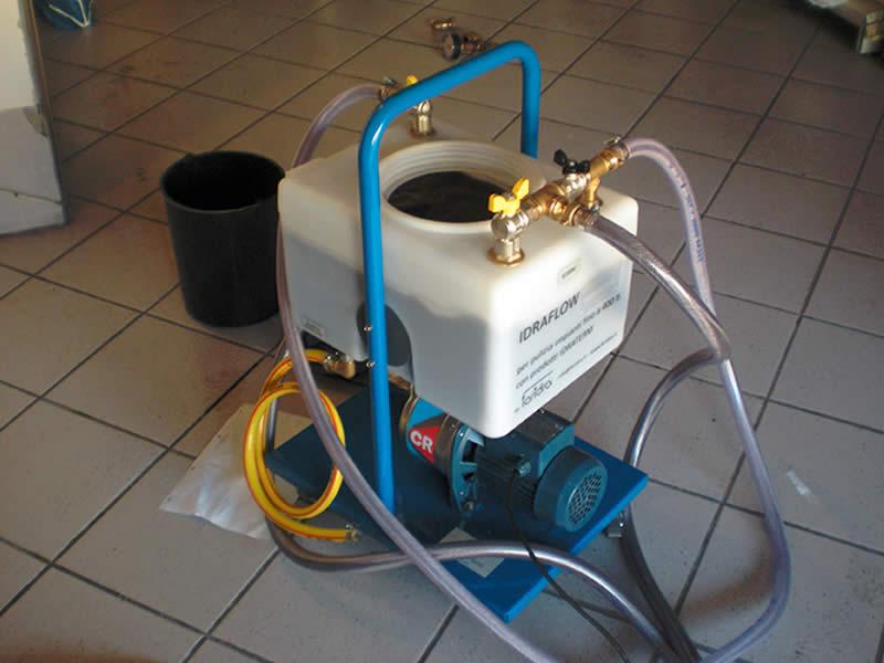 Lavaggio dell'impianto di riscaldamento